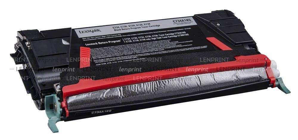 Lexmark black c734a1kg return program toner cartridge