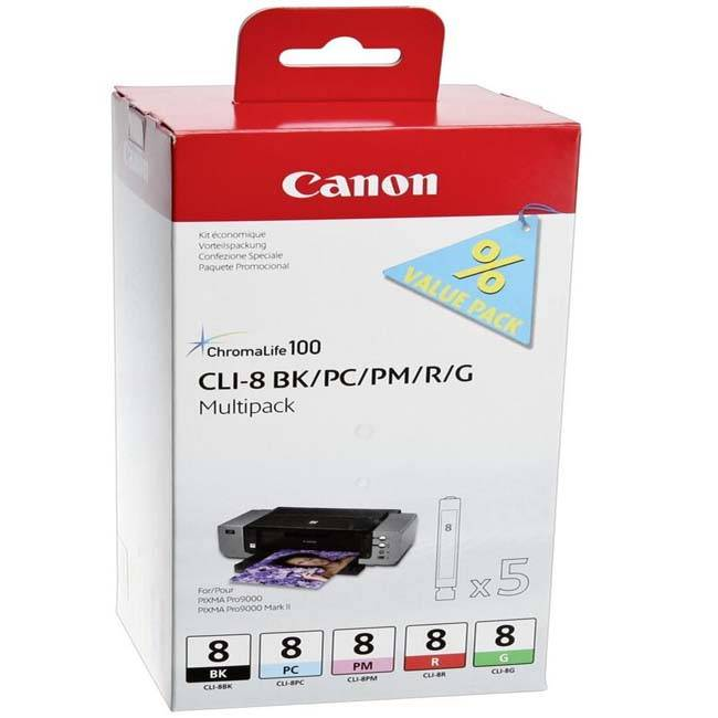 Чернильница Canon CLI-8C для PIXMA MP800/MP500/iP6600D/iP5200/iP5200R/iP4200/IX5000. Голубой. 890 страниц.